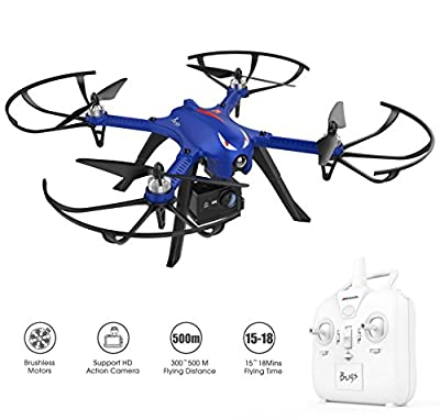 Brushless Motors Drone for Gopro Action Camera - DROCON Blue Bugs - 300Meters Control Distance - 15 Minutes Flying Time