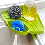 SwirlColor Kitchen Sink Caddy Sponge Holder Cleaning Brush Holder Sink Organizer - Green