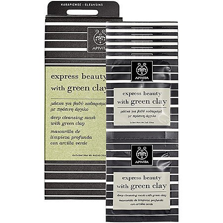 Apivita Express Beauty Deep Cleansing Mask with Green Clay 12 count by Apivita
