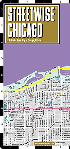 Streetwise Chicago Map - Laminated City Center Street Map of Chicago, Illinois (Michelin Streetwise Maps) por Michelin