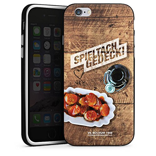 Apple iPhone X Silikon Hülle Case Schutzhülle VfL Bochum Fanartikel Fußball Silikon Case schwarz / weiß
