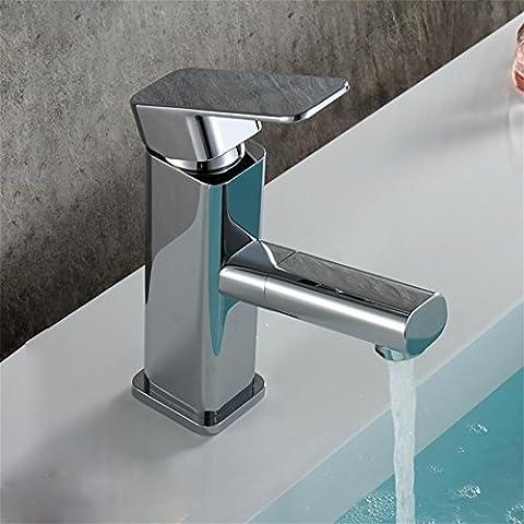 MCC Commercial en acier inoxydable poignée simple Pull Out robinet d'évier bain pulvérisateur à levier Pull Down nickel brossé Robinet de cuisine Sans plaque de pont , Photo