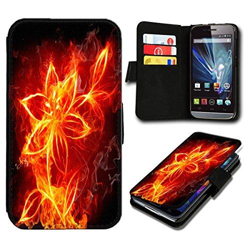 Book Style Microsoft Lumia 532 Premium PU-Leder Tasche Flip Brieftasche Handy Hülle mit Kartenfächer für Microsoft Lumia 532 - Design Flip SB483