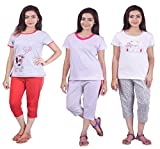 #1: Limeberry Nightwear Set with Pack of Three Capri Pant & T-Shirt