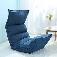 JiaQi Falten Folding sofa,Einzelnen Fußboden stuhl,Tatami-matten Sofa faul Schlafzimmer Kreativ Bett-Blau 124x50x13cm(49x20x5inch) preisvergleich bei kinderzimmerdekopreise.eu