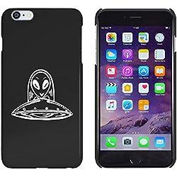 Azeeda Negro 'OVNI' Funda / Carcasa para iPhone 6 Plus & 6s Plus (MC00139303)