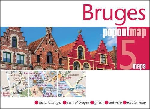 Bruges PopOut Map (Popout Maps) (Brügge Karte)