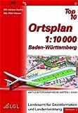 Baden-Württemberg Top 10 Version 1. DVD-ROM für Windows NT 4.0 SP6, 2000, XP: Amtliche Topographische Karten 1 : 10 000. Mit Adress-Suche (incl. Haus-Nr.), 3D-Brille und PDA-Viewer