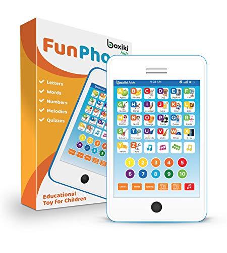 tablet giocattolo Boxiki kids Tablet Phone per Bambini con 6 Giochi educativi interattivi Tablet per Numeri di apprendimento