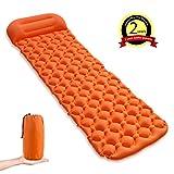 YUGUANG Lit de Tente/Lit d'air,Coussin de randonnée Portable Ultra-Absorbant Absorbant la Transpiration pour Le Camping en Plein air (Orange)