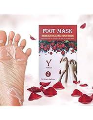 Fuß Peeling Maske Peeling High-Effekt Rose 2 Paar In einer Box, lassen Füße Haut weich und glatt