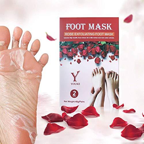 Mascarilla para pelar los pies High-effect Rose Exfoliantes 2 pares en una caja, 80 g/caja. Tan tierna como la piel del bebé en una semana.