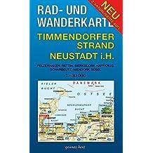 Rad- und Wanderkarte Timmendorfer Strand, Neustadt in Holstein: Mit Pelzerhaken, Rettin, Sierksdorf, Haffkrug, Scharbeutz, Niendorf, Süsel. Maßstab 1:30.000. Wasser- und reißfest.