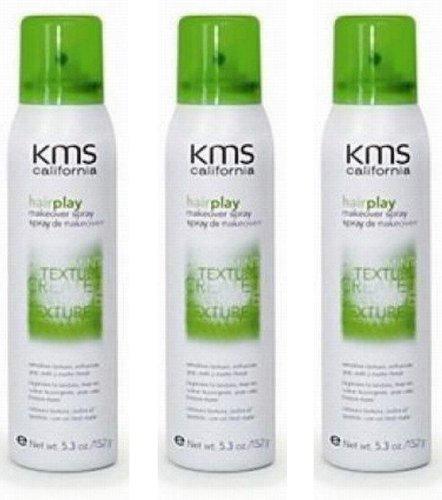 KMS California HairPlay Makeover Hair Spray 5.3 fl oz Hair Play (3 PACK)