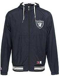 Majestic Oakland Raiders Perforado Windrunner NFL Chaqueta 70a6e610066