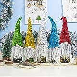 Weihnachten Santa GNOME Pailletten Champagner Weinflaschen Cover Sleeve Bag Table Decor Geschenk...