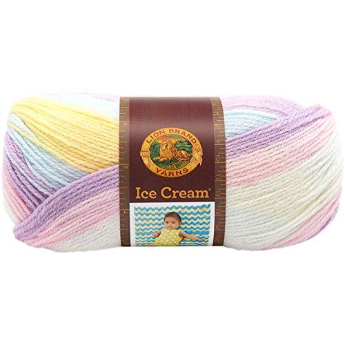 Lion Brand Yarn ICE Cream Yarn, Cotton Candy, 10.89 x 10.89 x 22.32 cm