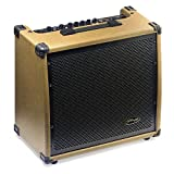 Stagg 60 AA R EU Amplificateur pour guitare acoustique + Reverb 60 W Marron