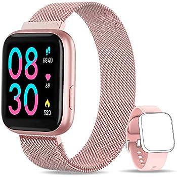 YUMIKOO Smartwatch, 1.4 Inch Reloj Inteligente IP67 con Pulsómetro Presión Arterial, Monitor de Sueño Podómetro Contador de Caloría, Smartwatch Mujer ...
