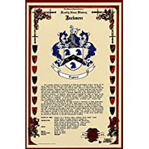 Brisson armoiries de Famille, nom et blason Histoire – Celebration Scroll 11 x 17 – Portrait d'origine France