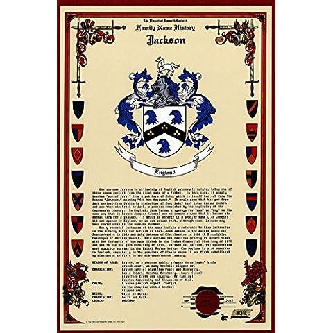 Kensington escudo de armas, Escudo del familia y nombre historia–Celebración Scroll 11x 17vertical–Inglaterra origen