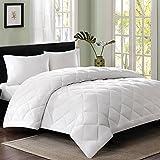 #6: Cloth Fusion Pacifier Microfiber Comforter- Double, White