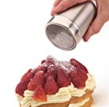 from KitchenCraft Kitchen Craft Stainless Steel Shaker & Lid Fine Mesh- gift boxed Model KCFINE
