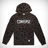 Converse Essntls Camo GRAPHC Pullover Hoodie Sweatshirt, Herren, Grau (Peat)
