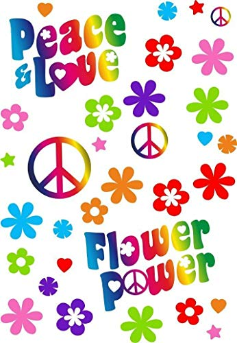 Pegatinas Juego de Flower Power I Coche 262 I Peace and Love I Arco t