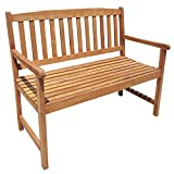 Gartenbank für 2-3 Personen - für Garten oder Terrasse - Akazienholz