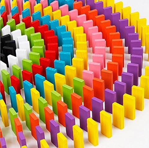 120 pièces Dominos en bois pour enfants, Jeux de tuiles, Jouets éducatifs éducatifs