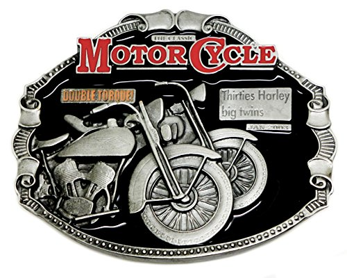 Harley Davidson Belt Buckle - Years 30 Big Twins Design - Official Authentic License Dragon Designs Brand Product