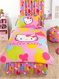 Hello Kitty Duvet Cover and Pillowcase Spot Design Kids Bedding