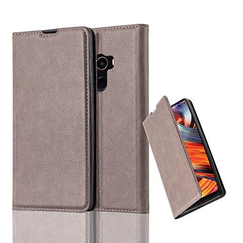 Cadorabo Hülle für Xiaomi Mi Mix 2 - Hülle in Kaffee BRAUN - Handyhülle mit Magnetverschluss, Standfunktion & Kartenfach - Case Cover Schutzhülle Etui Tasche Book Klapp Style
