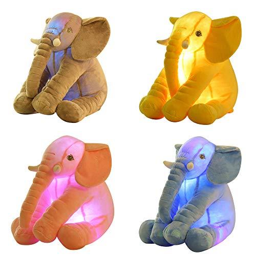 REDWALL®Peluches para Bebes Muñeca De Elefante Resplandeciente/Elefante Juguete De Peluche Almohada /50X50cm...