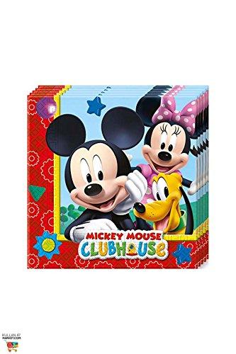 Amscan Perona – Pack 20 servilletas 33 x 33 cm, Mickey Mouse (50862)