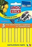Parodi & Parodi Lindo Stick Deodorante Aspirapolvere Limone 5 Pezzi, Tessuto, Giallo, 11 x 17 x 1 cm, 5 Unità
