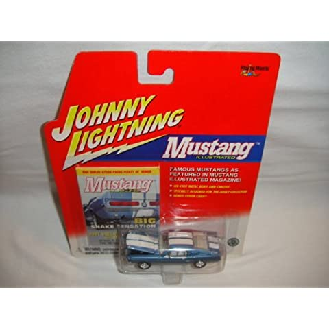 JOHNNY LIGHTNING MUSTANG ILLUSTRATED SERIES BLUE AND WHITE 1967 SHELBY GT-500 DIE-CAST REPLICA by Johnny Lightning