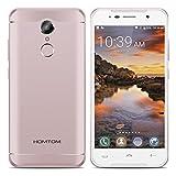 HOMTOM HT37 Pro 4G Smartphone Débloqué (Android 7.0 - Double Caméra 8MP+13MP - 3 GO RAM+32 GO ROM - 5 pouces Écran - Double SIM - Hotknot OTG OTA Empreinte Digitale) - Rose Doré