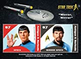 Antigua Star Trek – Spock, Miroir Miroir et Collection philatélique, Souvenir Sheet