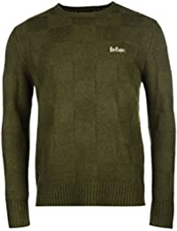 Lee Cooper Carreaux Pull pour homme Vert Pull Top