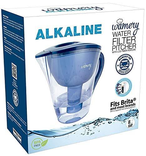 Alkalisches Wasser Krug. 2 L Tragbare Wasserfilter für Leitungswasser. Ionisieren, Filter, Klar, Erhöhung der PH-Wert und die Küche verbessern Wasserhahn Wasser Geschmack. Freie Kassette. -