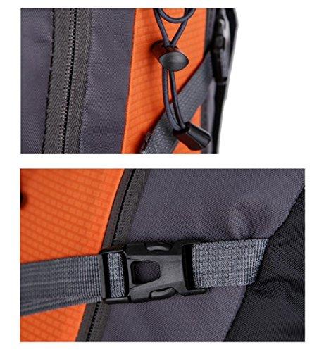 Z&N Mountaintop 40-45L KapazitäT Reise Wandern Camping Rucksack Urlaub GepäCk Tasche Schule Rucksack Running Sport Gym Storage Bag Teenager TäGlichen Gebrauch F