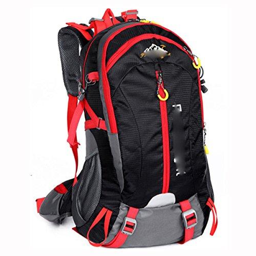 40L Zaino All'aperto Tempo Libero Alpinismo Borsa,Black Black