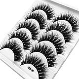 SMILEQ 3D Wimpern Imitat Nerz Natürliche Dicke Falsche Wimpern 5 Paar (5 Paare, I)