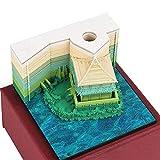 DIY Art Block notes adesive 3D comodo adesivi fogli carta artigianale del Giappone creativo novità post note blocchetti note Paper Attic Green