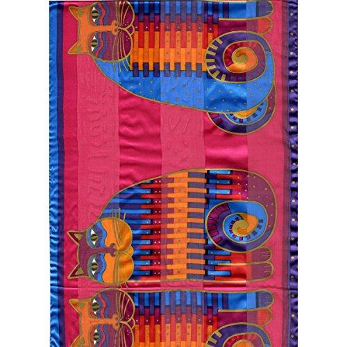 laurel-burch-laurel-burch-scarves-rainbow-cat-cousins-classic