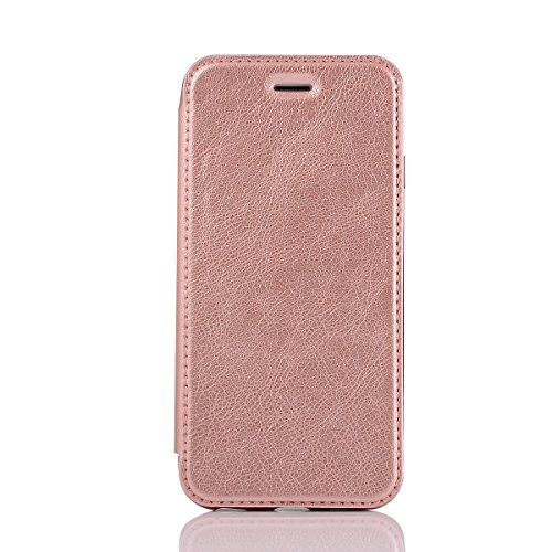 "HYAIT® For IPHONE 6 PLUS 5.5"" Case[Credit Card Slots][Half Cover] Dual Layer Hybrid Armor Rugged Plastic Hard Shell Flexible TPU Bumper Protective Cover-BLACK ROSE GOLD"