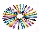 2 BA Dart-Schäfte aus Aluminium, mittelgroß, 53 mm Länge, verschiedene Farben, 25 Stück Einheitsgröße Verschiedene Farben