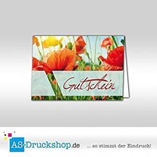 Gutschein Floristik - Klatschmohn / 25 Stück/DIN A6